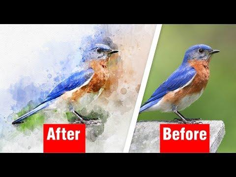 Watercolor Photoshop Action Tutorial | Adobe Photoshop CC | Multi Tech
