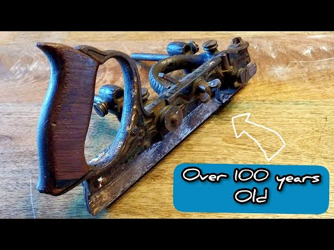 Restoring a 100 year old Stanley no. 45 combination plane | woodworking | DIY | no talking |