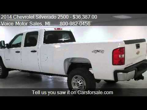 2014 chevrolet silverado 2500 ls 4x4 work truck crew cab for Voice motors kalkaska michigan
