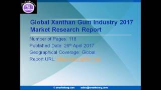 Global Xanthan Gum market estimation and forecast 2017-2022 just published
