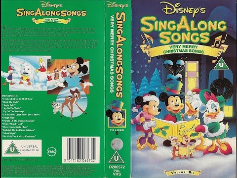 Sing Along Songs - Very Merry Christmas Songs (1992, UK VHS)