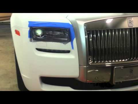 2013 Rolls Royce Ghost Wrapped in Ultra Matte Laminated white by DBX