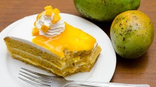 EGGLESS MANGO PASTRY RECIPE l WITHOUT OVEN