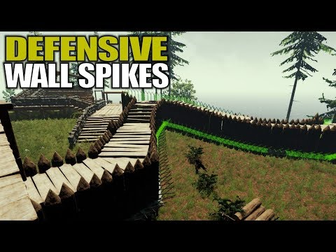 DEFENSIVE WALL SPIKES   The Forest   Let's Play Gameplay   S14E36