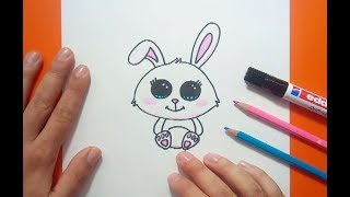 Como dibujar un conejo paso a paso 8 | How to draw a rabbit 8