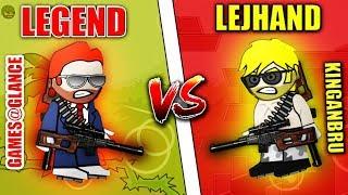 Mini Militia Games@Glance vs KingAnBru 1vs1 SNIPER MOD EPIC BATTLE | Doodle Army 2: Mini Militia #98