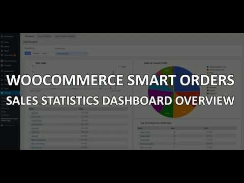 Sales Statistics Dashboard - WooCommerce Smart Orders Page