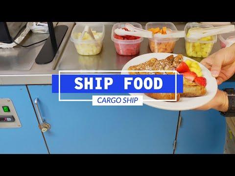 Food On A Maersk Cargo Ship