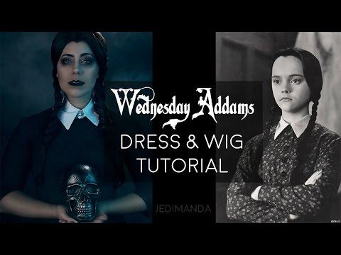 Wednesday Addams Dress And Wig Tutorial Jedimanda