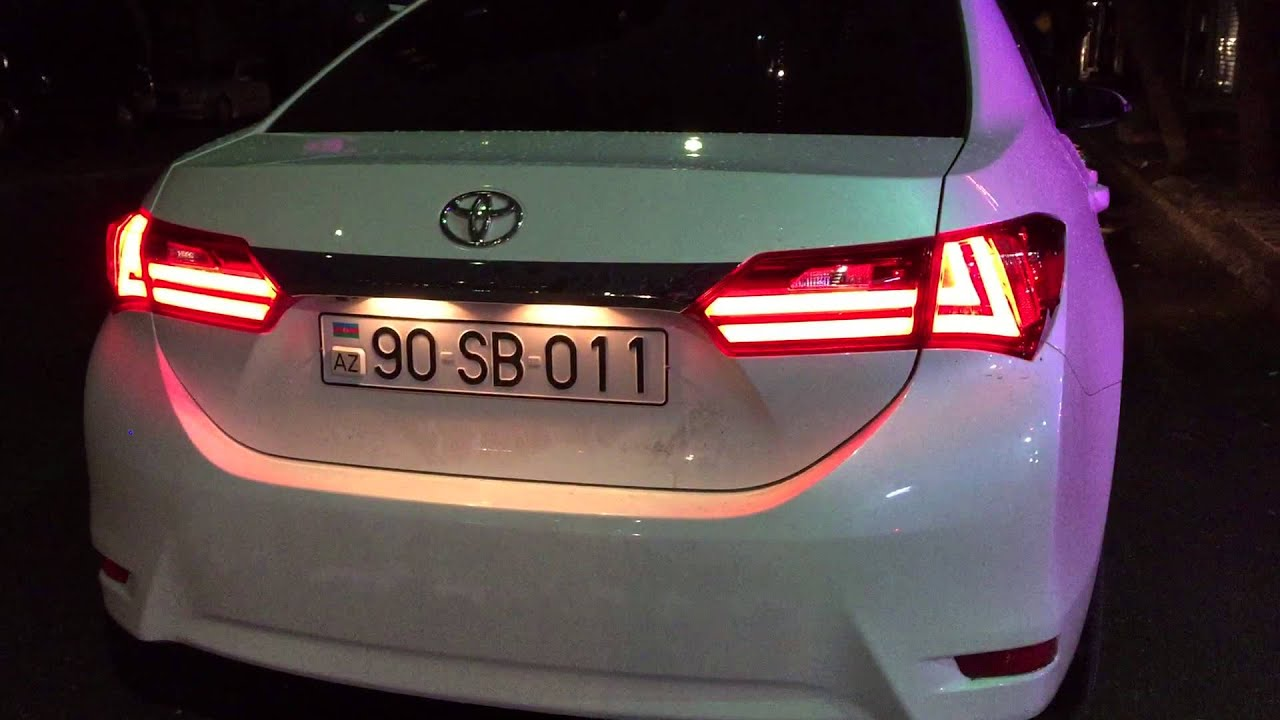 toyota corolla 2014 new all tail light youtube. Black Bedroom Furniture Sets. Home Design Ideas