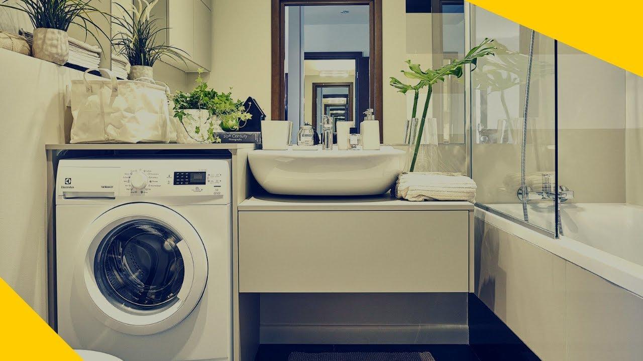 Bagno Stretto E Lungo Lavatrice : Lavatrice in bagno: idee per nasconderla! youtube