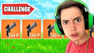 SCOPED REVOLVER ONLY CHALLENGE! (Bad Idea)