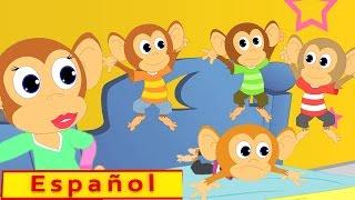 cinco pequeños monos Las poesías infantiles Canción de los niños Español