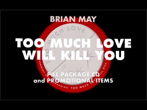 [430] Brian May - Too Much Love Will Kill You Pill Package CD and Promotional Items (1992)