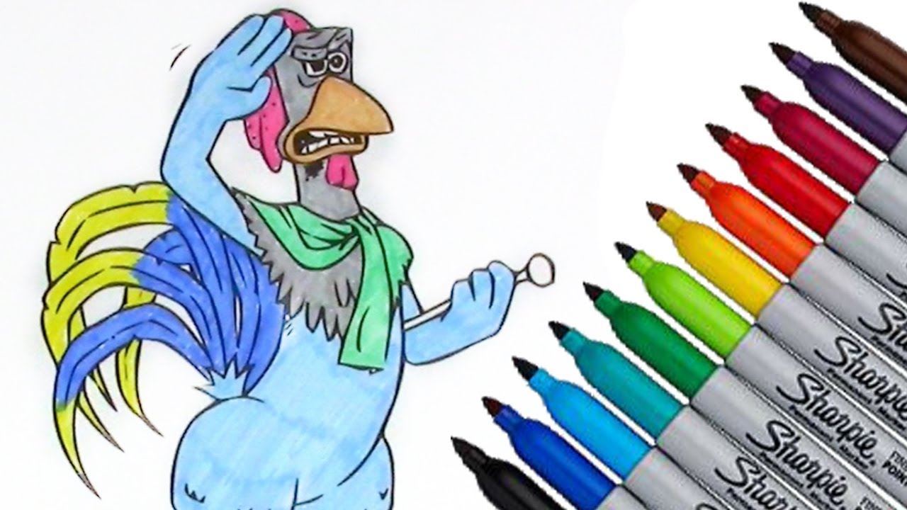 Chicken Run Fowler Coloring page 2017 New HD Video for Kids - YouTube