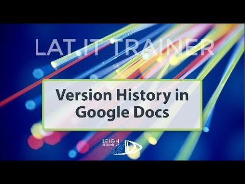 Guide To Version History In Google Docs