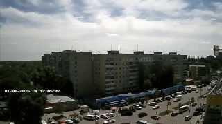 Timelapse: Утренняя гроза в Новомосковске, 01.08.2015