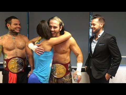 Thumbnail: Bayley wants a hug from The Hardy Boyz in Stuttgart, Germany
