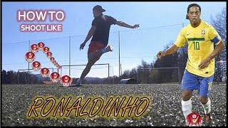 How to take freekicks like RONALDINHO! | Tutorial