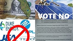 Florida Votes NO on Big Energy Anti Solar Constitutional Amendment 1 Section 29 2016)