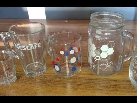 Mason Glass Jar/ Square Glass Mug  Screen Printing Machine PT12