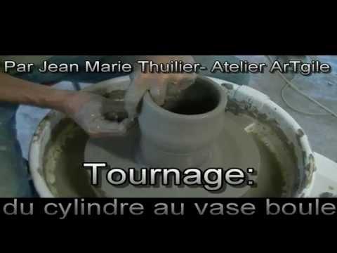 Atelier ArTgile - Poterie - COURS/Tournage:du cylindre au vase boule