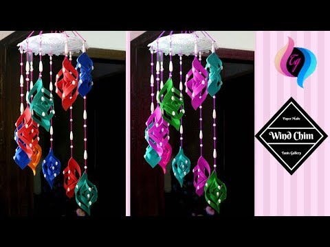 Paper made wind chime - How to make wind chimes out of paper - Paper made home decorations idea
