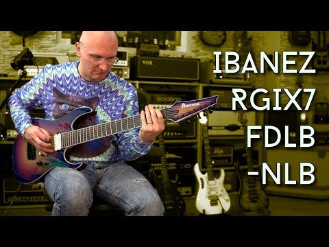 Ibanez Iron Label 7 String RGIXFDLB-NLB Unboxing and 1st Impressions!