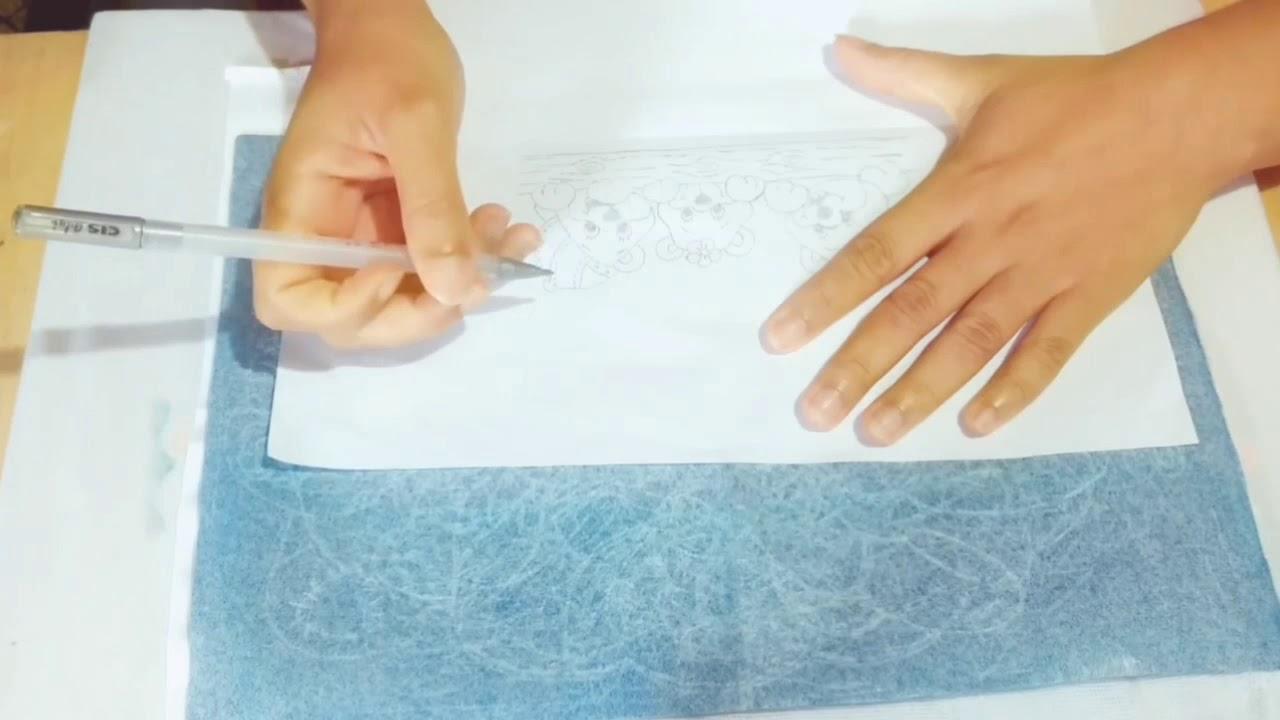 Como Transferir Desenho Em Fralda Para Pintar Youtube