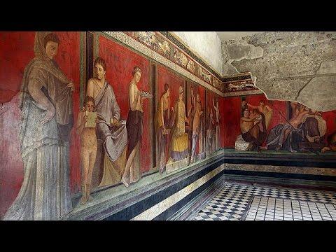 Mysterienvilla von Pompeji wiedererffnet  YouTube