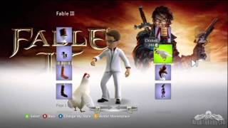 Fable III Xbox LIVE Avatar Clothes