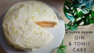 A Super Drunk Gin &amp Tonic Cake  Magic Marinade  ASMR