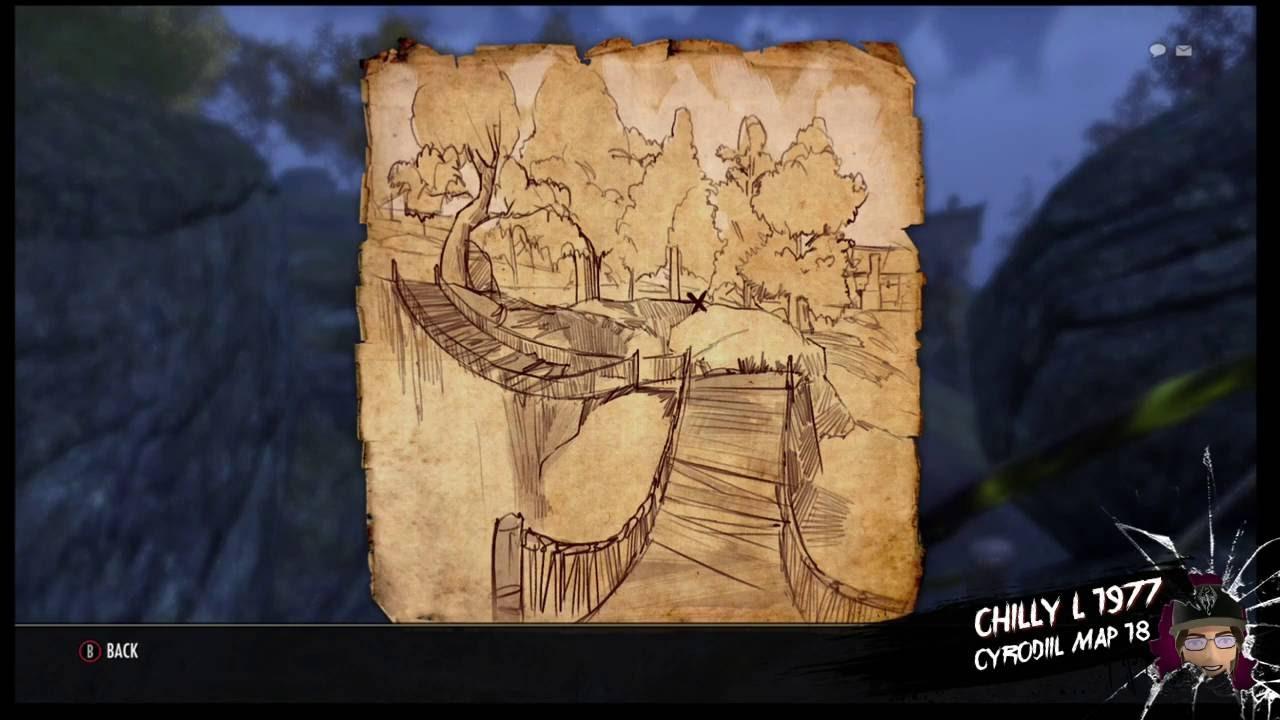 Carte Au Tresor Xviii.The Elder Scrolls Online Cyrodiil Treasure Map 18 Xviii