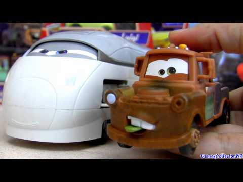 Deluxe Spy Train Transporter Cars 2 Quick Changers Mater with Wasabi tongue Disney Pixar toys