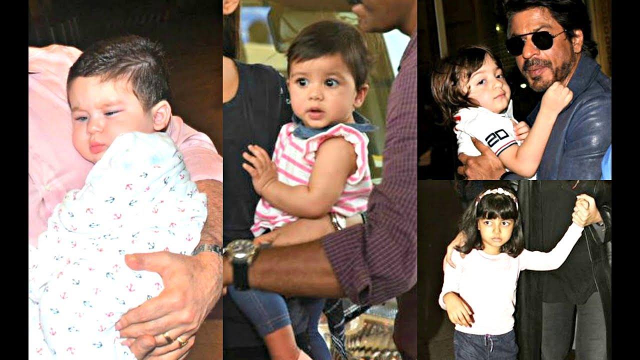 Bollywood Star Kids Spotted At Airport- Taimur Ali Khan, Misha Kapoor, Abram, Aaradhya Bachchan