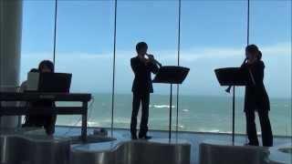 窓の外は太平洋で船上コンサートの気分になれそうですが 茨城県日立駅構...
