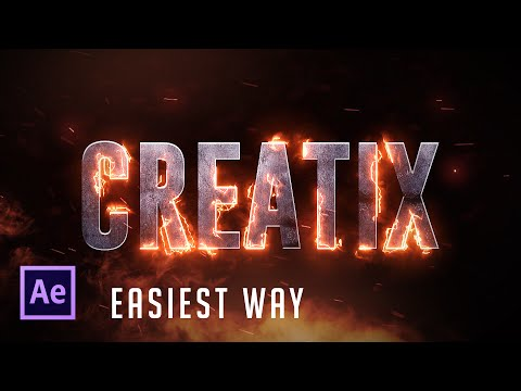 After Effects Tutorial:  Real Fire Text effect (Easiest Way!) !!!