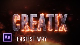 Video After Effects Tutorial:  Real Fire Text effect (Easiest Way!) !!! download MP3, 3GP, MP4, WEBM, AVI, FLV Juni 2018