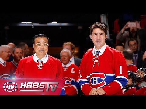 Justin Trudeau and Li Keqiang visit the Bell Centre