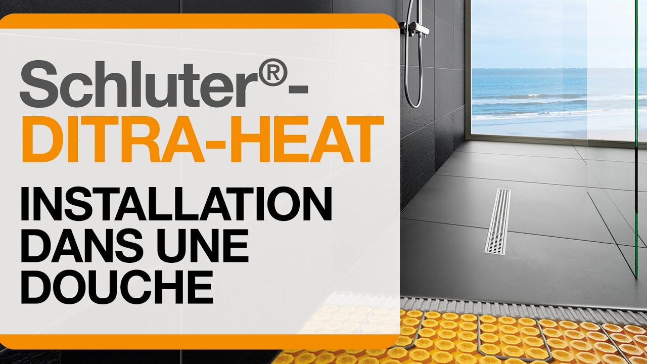 comment installer le syst me de plancher chauffant lectrique ditra heat dans une douche youtube. Black Bedroom Furniture Sets. Home Design Ideas