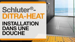 Comment installer le système de plancher chauffant  électrique DITRA-HEAT dans une douche.