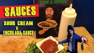 Vegan Sour Cream Recipe   Enchilada Sauce Recipe
