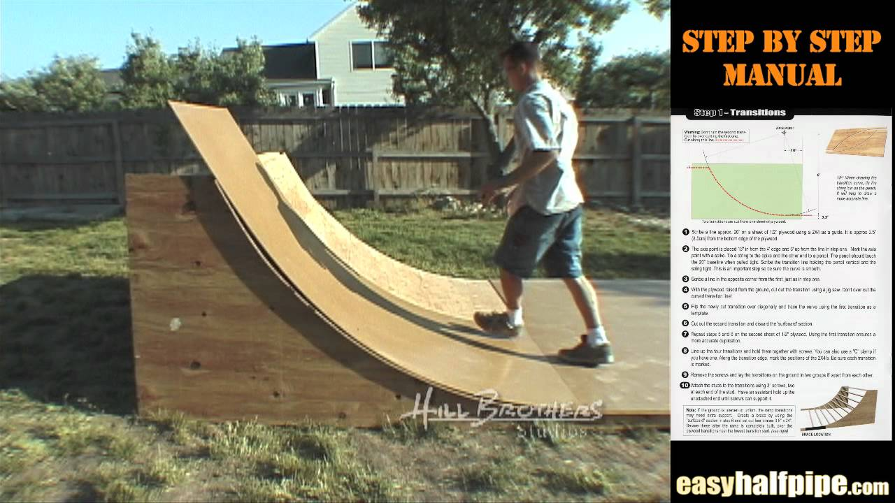 how to build a halfpipe step 5 masonite ramp surface youtube