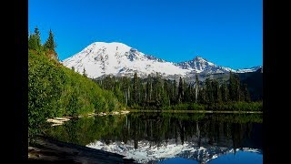 2018-09-18 Bench And Snow Lakes at Mount Rainier
