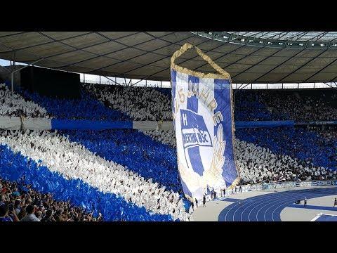 GEILE CHOREO & Starker Support in der Hertha-Kurve gegen Stuttgart!