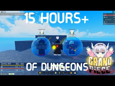 (GPO) WHAT 15+ HOURS OF GRINDING DUNGEONS ON 2X LOGIA GOT ME |