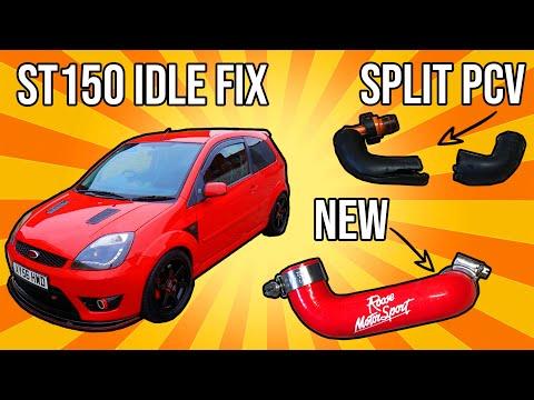 Fiesta St150 Idle Issue Fix Split Pcv Hose Youtube