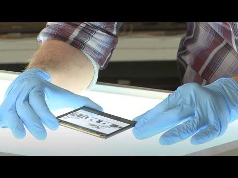 Storing glass plate negatives