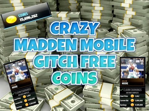 (GLITCH) INSANE MADDEN MOBILE GLITCH! SELL BRONZE PLAYERS FOR 5 MILLION!