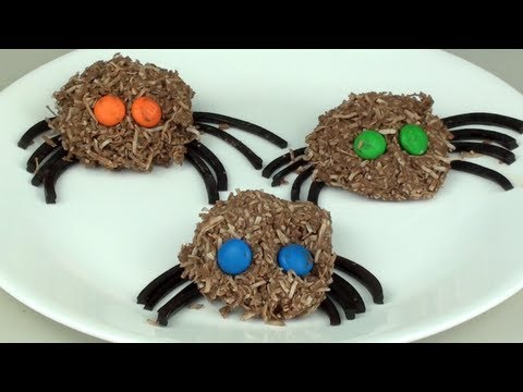 CHOCOLATE SPIDERS - Halloween Recipe